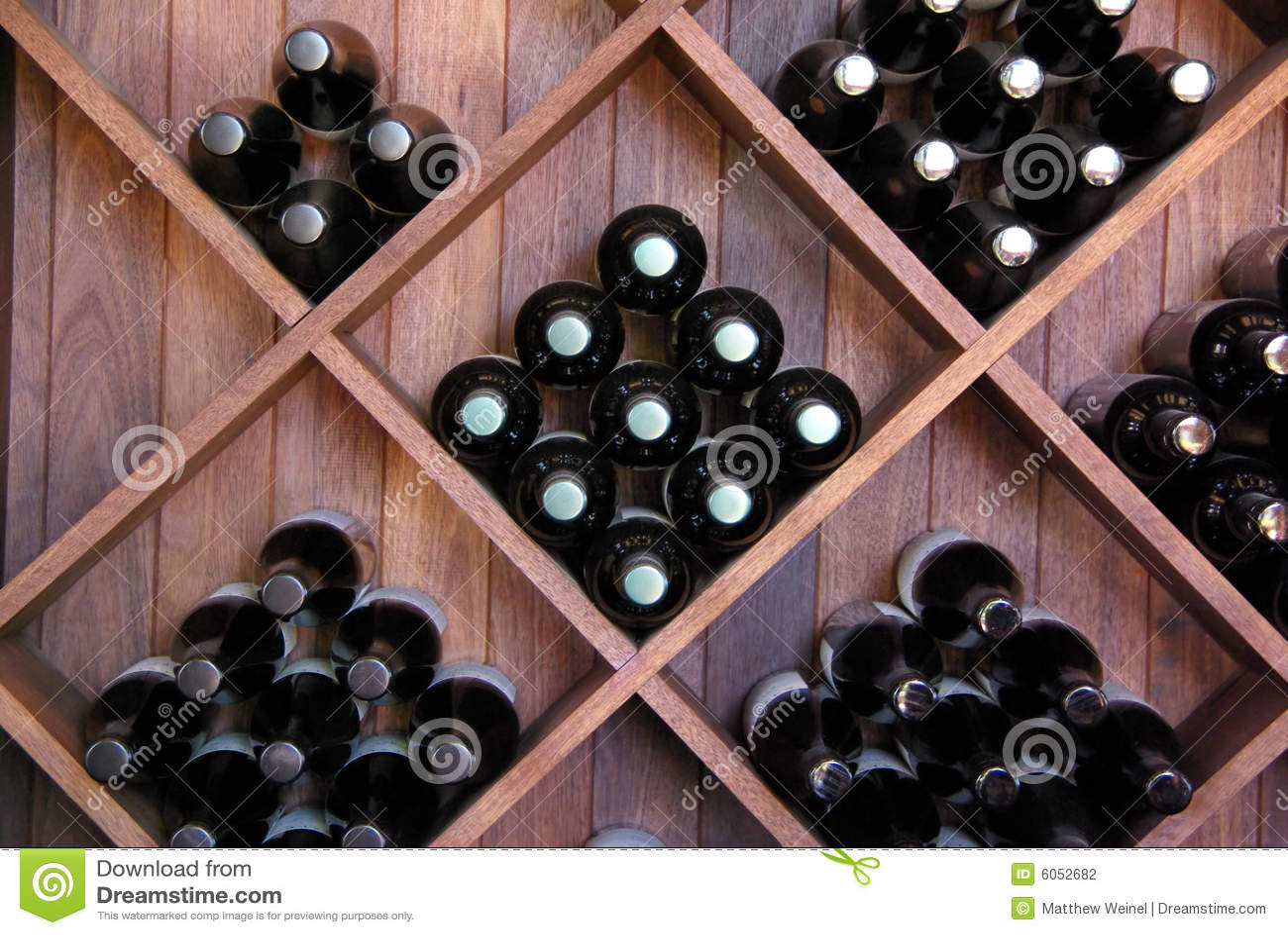 Diagonal Wine Rack Stock Photography Image 6052682