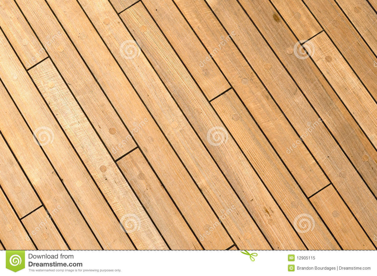 Diagonal Wooden Ship Deck Background Stock Image Image
