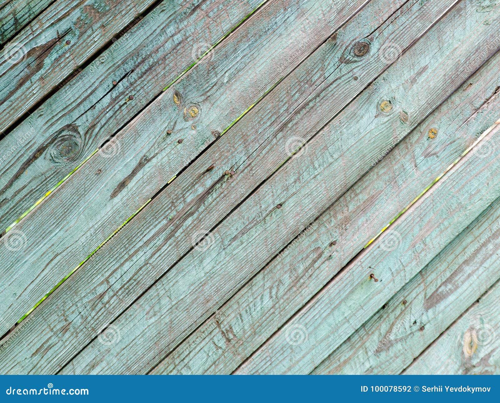 Diagonale houten planken uitstekende blauw grijze verf stock foto
