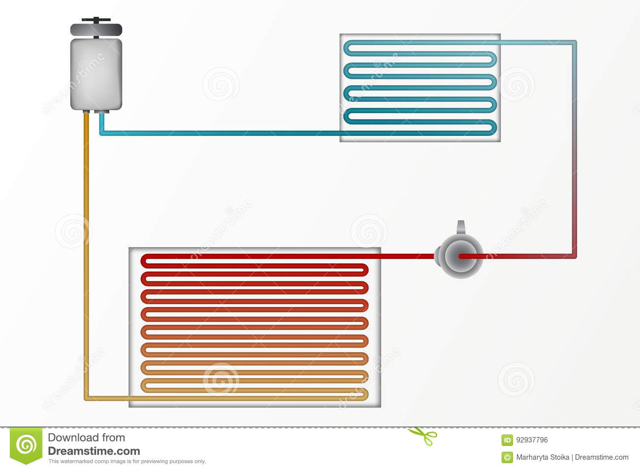 Diagram Of Air Conditioning. The Technology Of Heating And Cooling ...