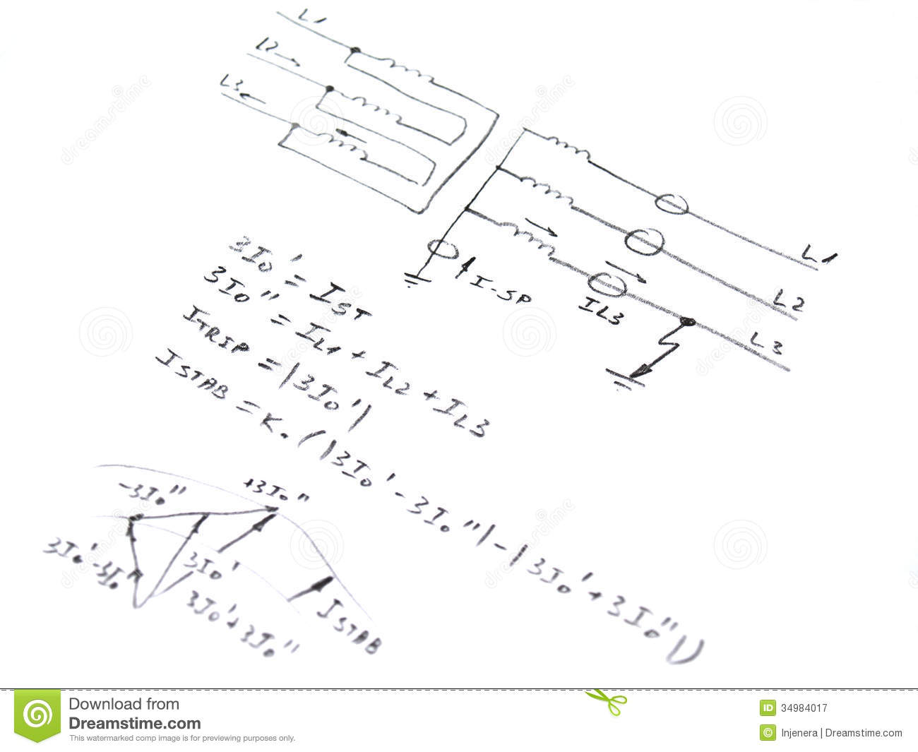 Diagram With Analysis Of Network Short Circuit Stock Illustration ...
