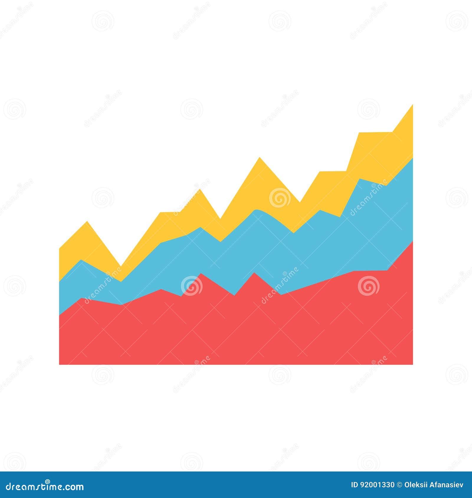Diagram Area Flat Vector Icon Stock Vector