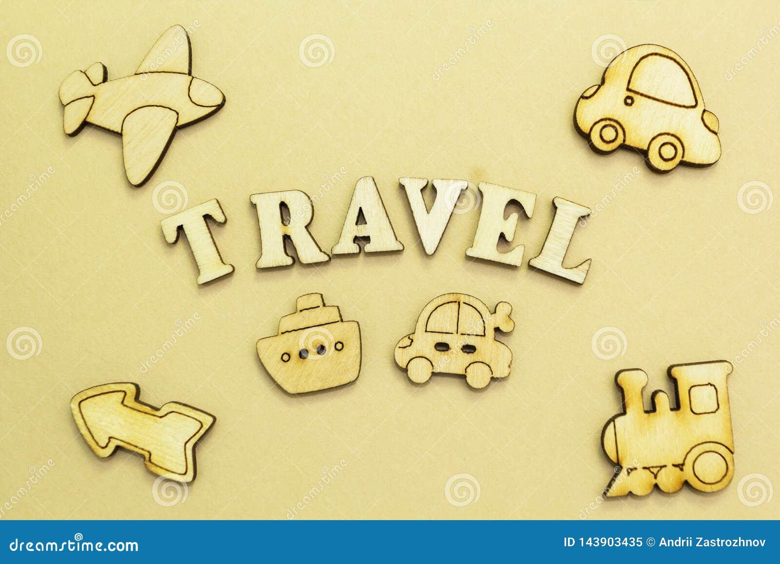 Diagram av ett flygplan, en bil, ett skepp, ett drev, lopp för en inskrift '