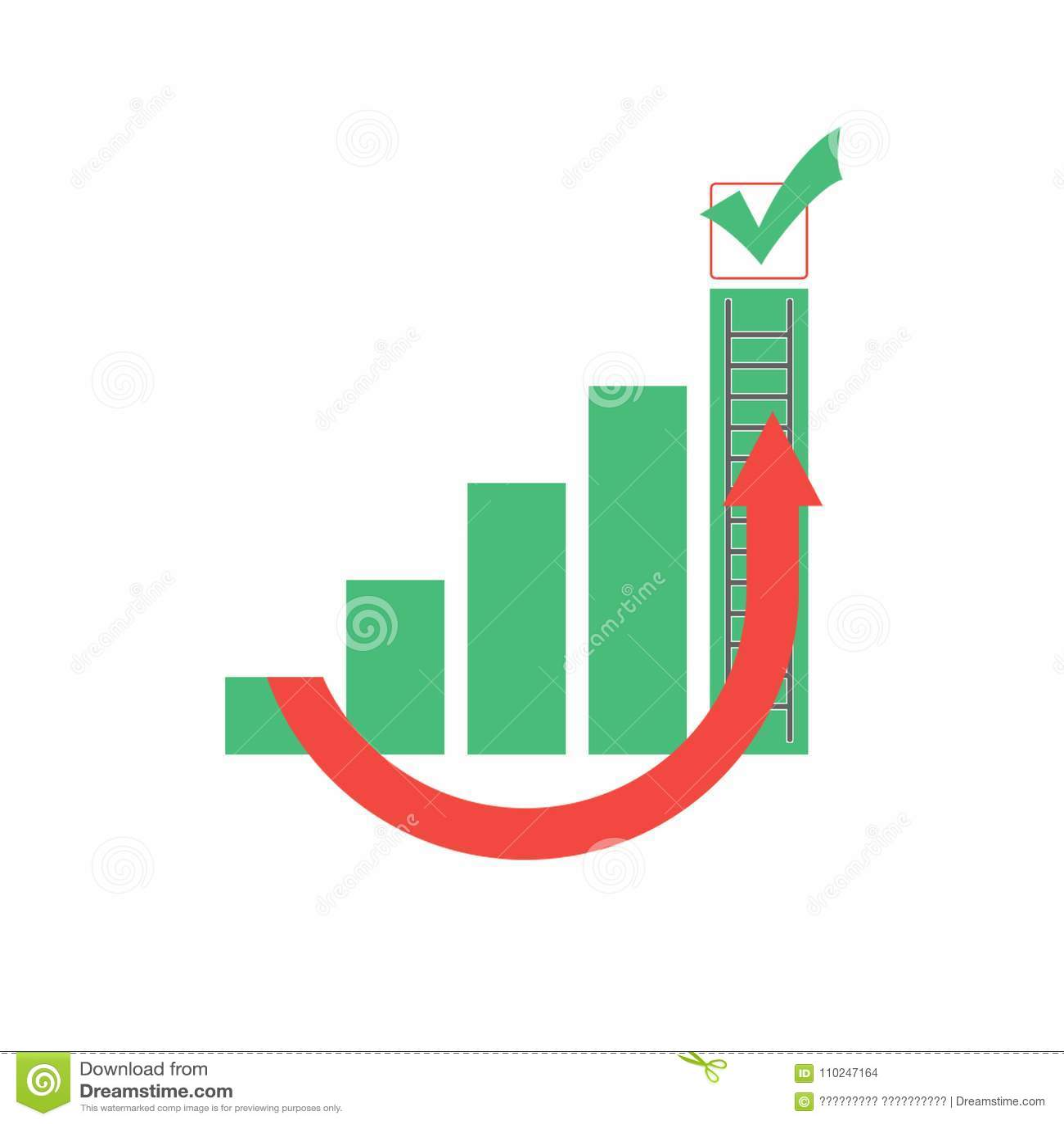 Diagram Bypassing A Career Ladder Stock Illustration