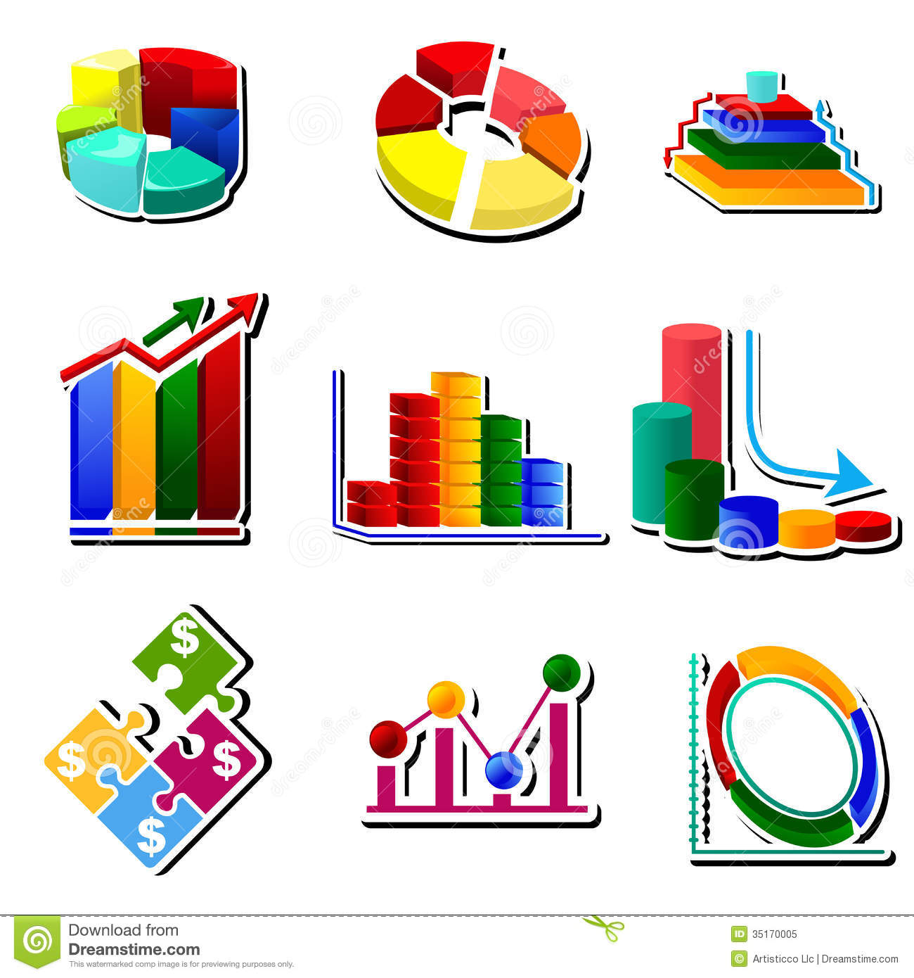 Diagram Chart Stock Illustration  Illustration Of Growth