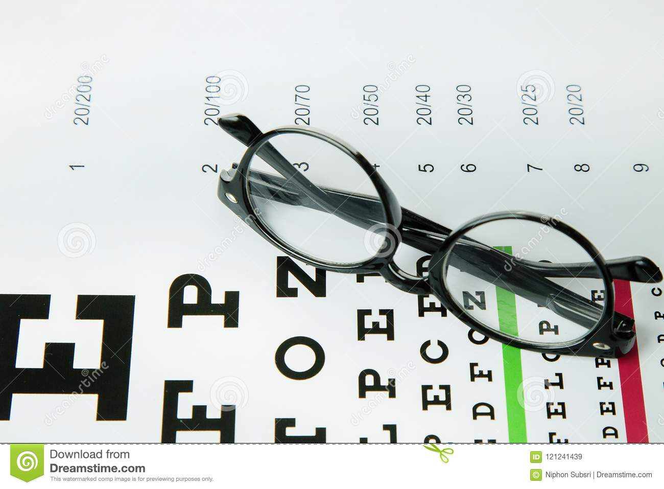 The Diagram Of Checking Eyes Glasses Optometry Medical Backgro Stock Image  - Image of lens, doctor: 121241439