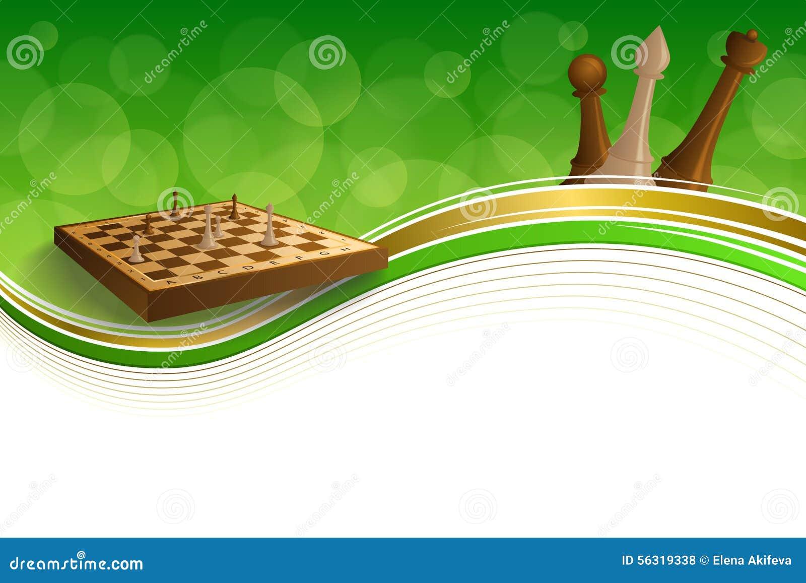 Diagram för bräde för abstrakt för grön guld för bakgrund för schack brunt för lek inramar beigea illustrationen