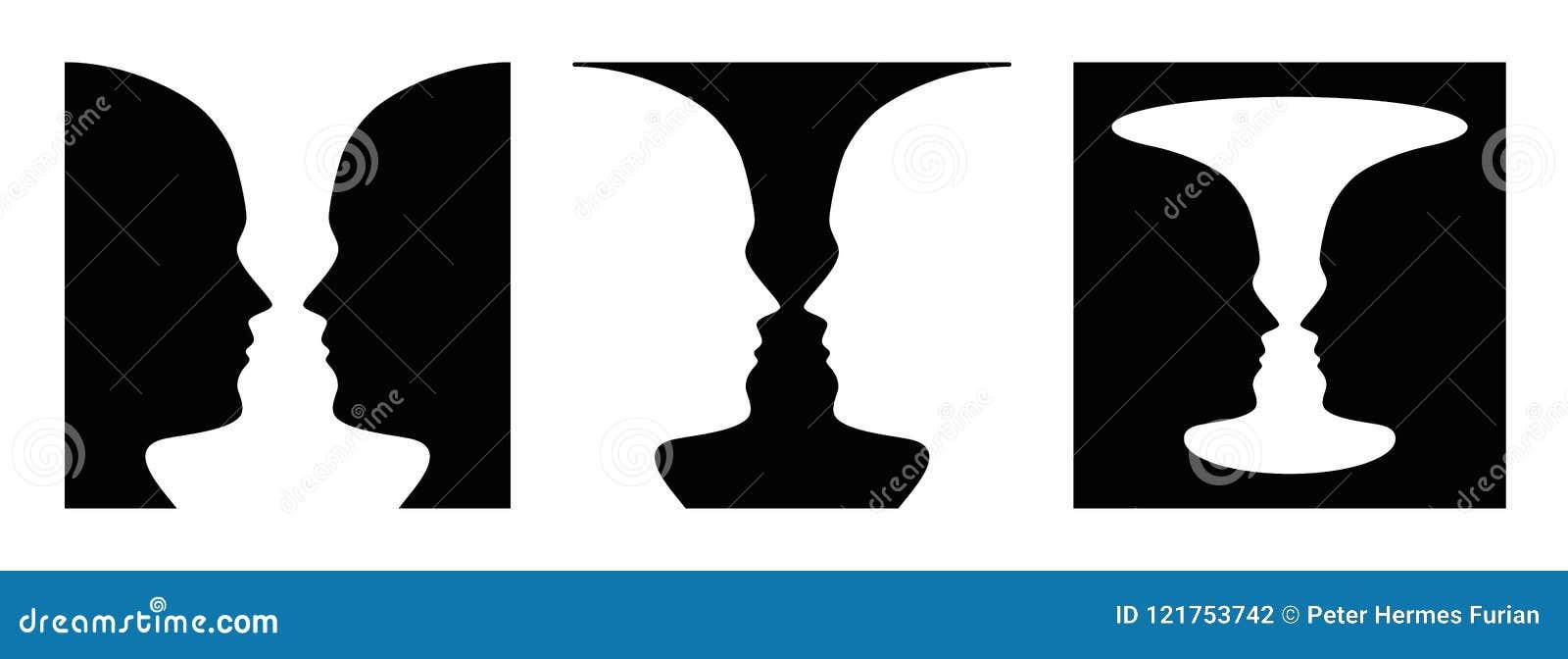 Diagram för tre gånger jordföreställning, framsida och vas