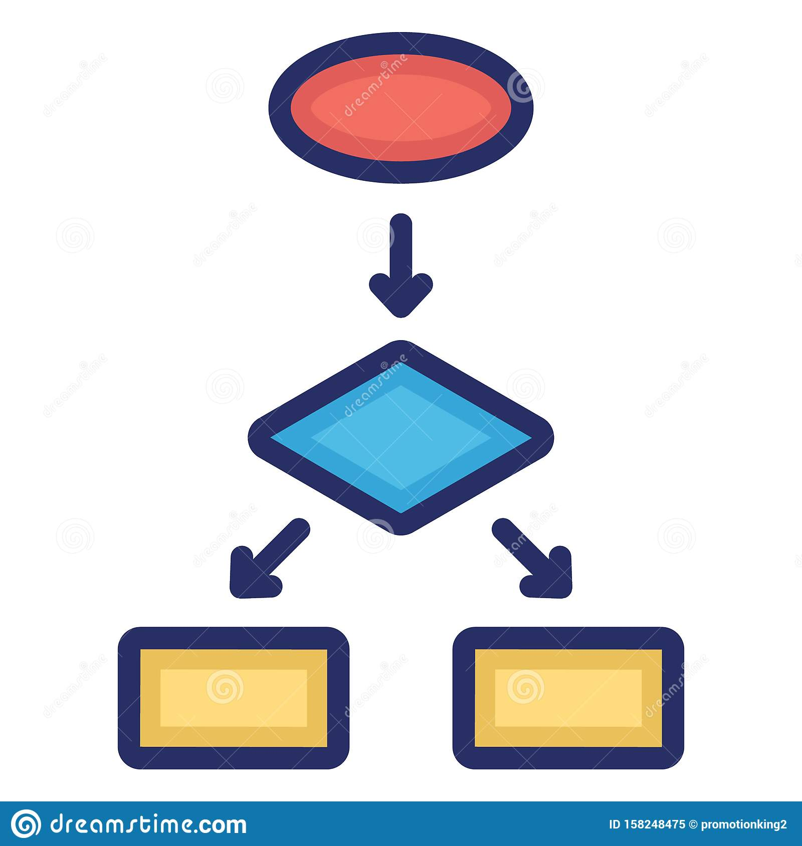 Diagram, flowchart Isolated Vector Icon Which can easily modify or edit