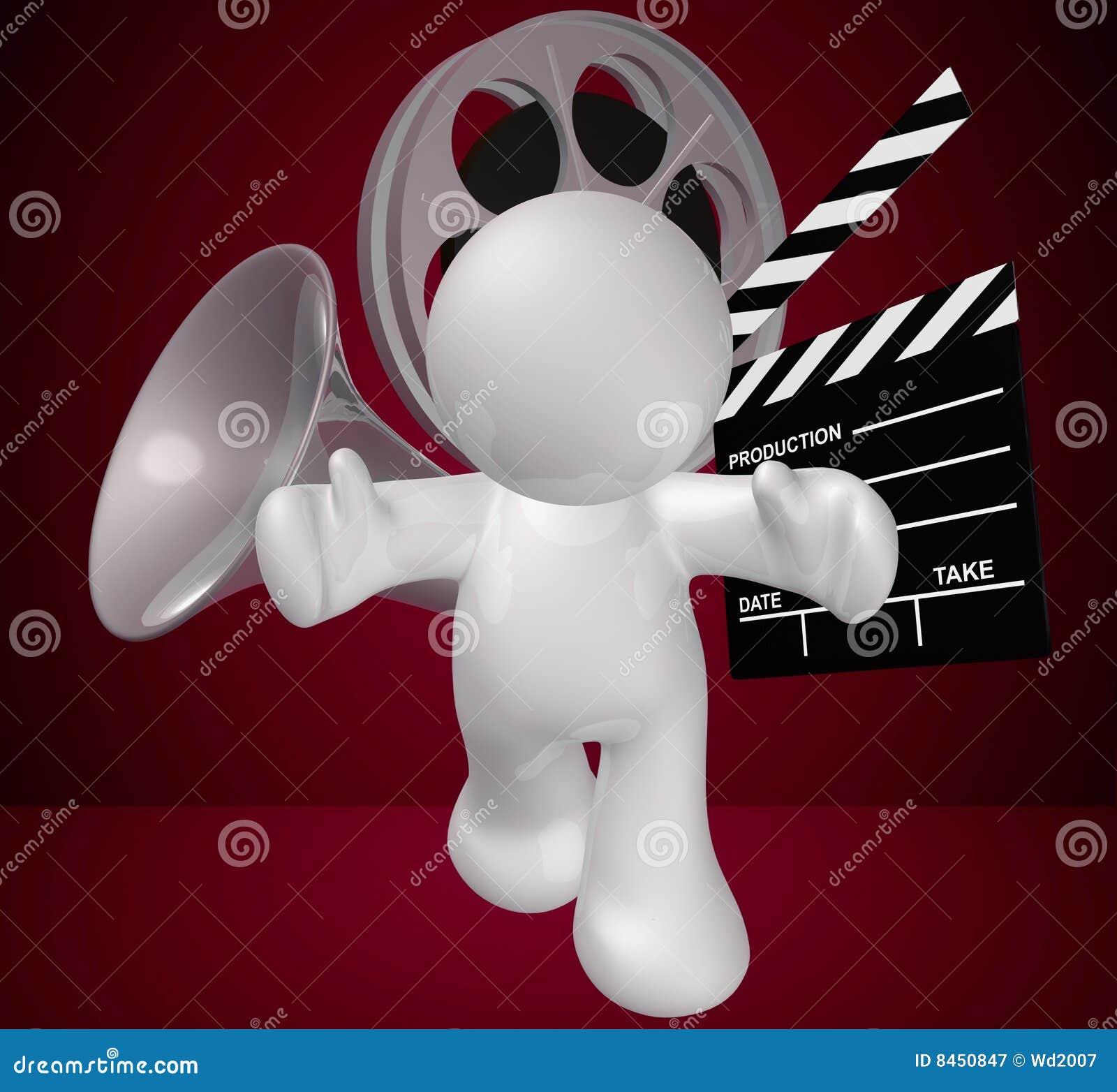 Diagram grabbsymbol som gör filmobjekt