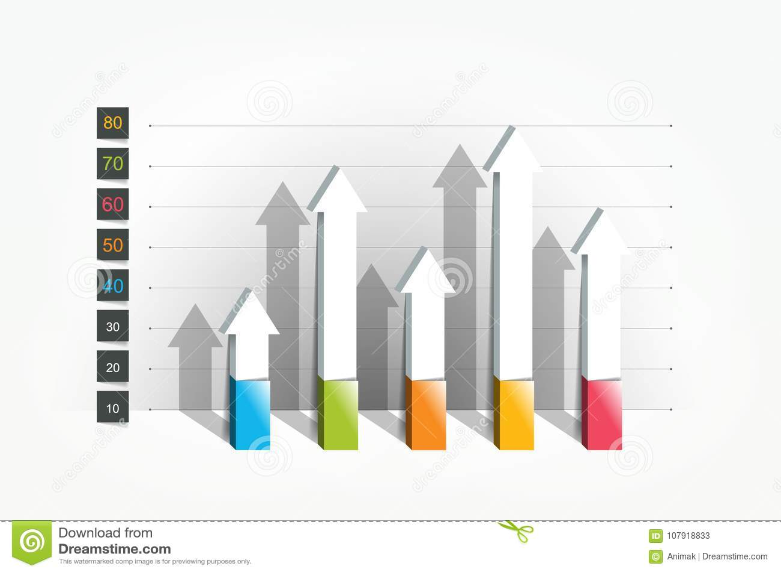 Diagram graf, stil 3D