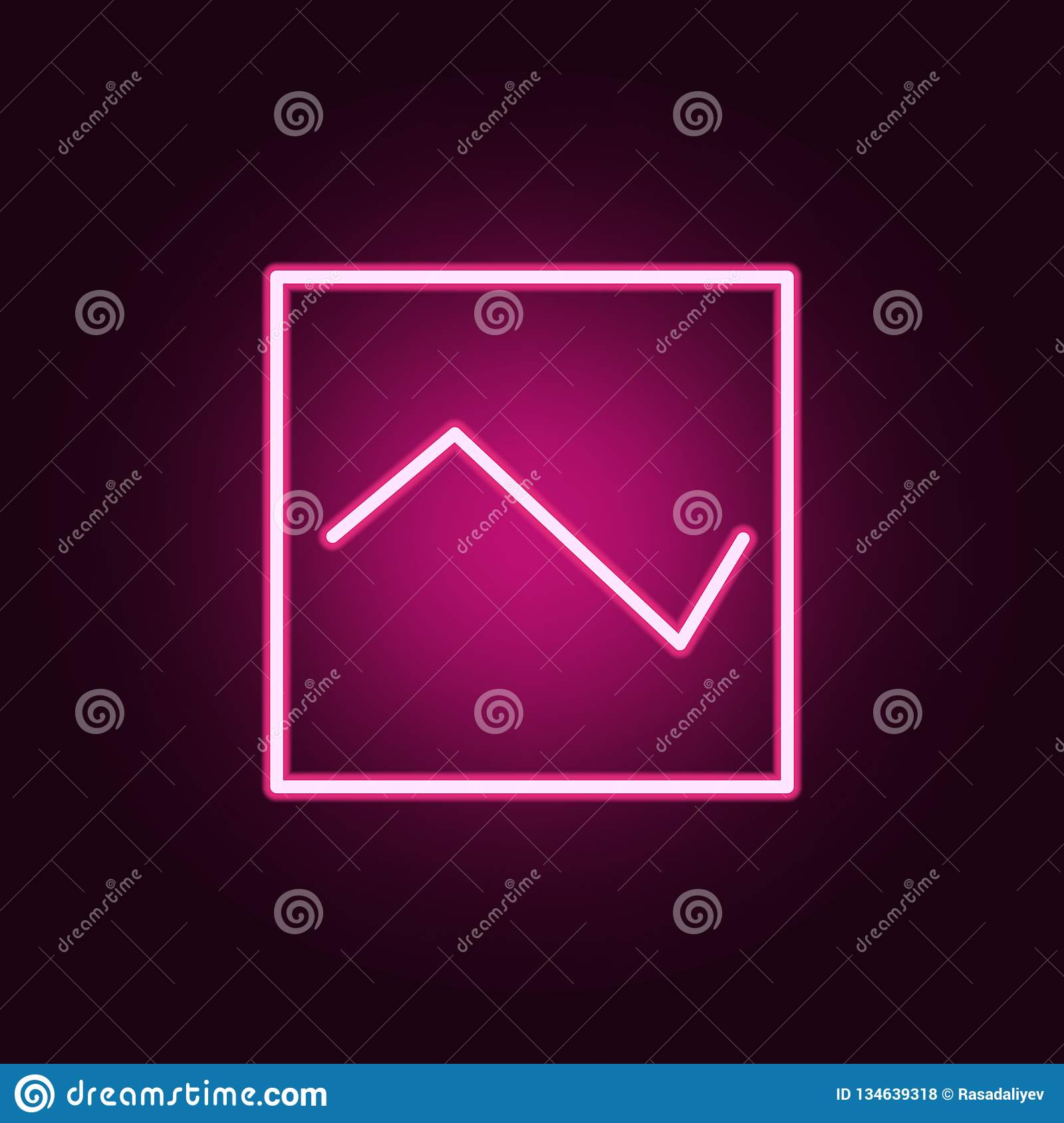 diagram icon. Elements of web in neon style icons. Simple icon for websites, web design, mobile app, info graphics