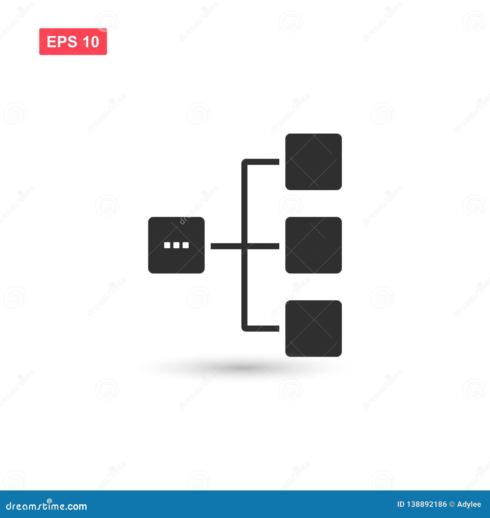 Diagram Icon Vector Design Isolated 3 Stock Vector