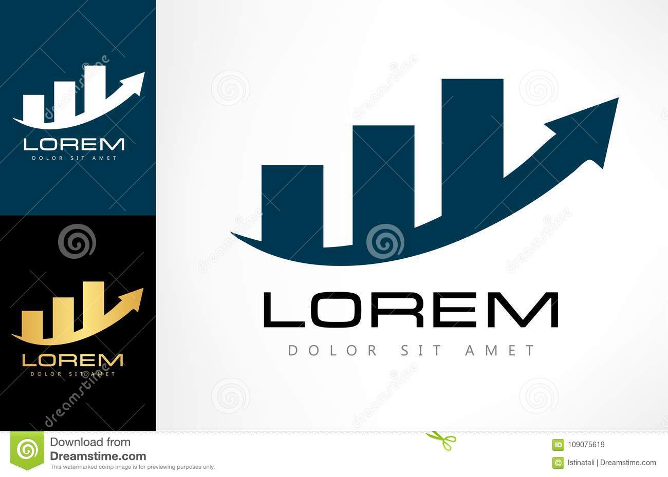 Diagram Logo Vector Stock Vector  Illustration Of Economic