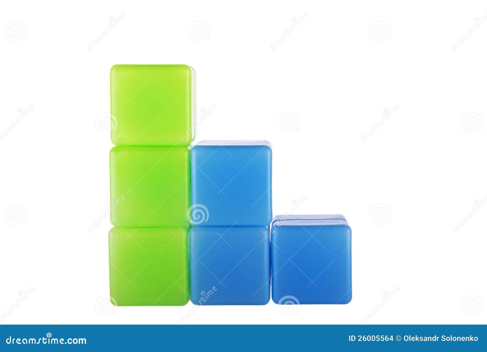 Diagram Made Of Plastic Building Blocks Stock Images