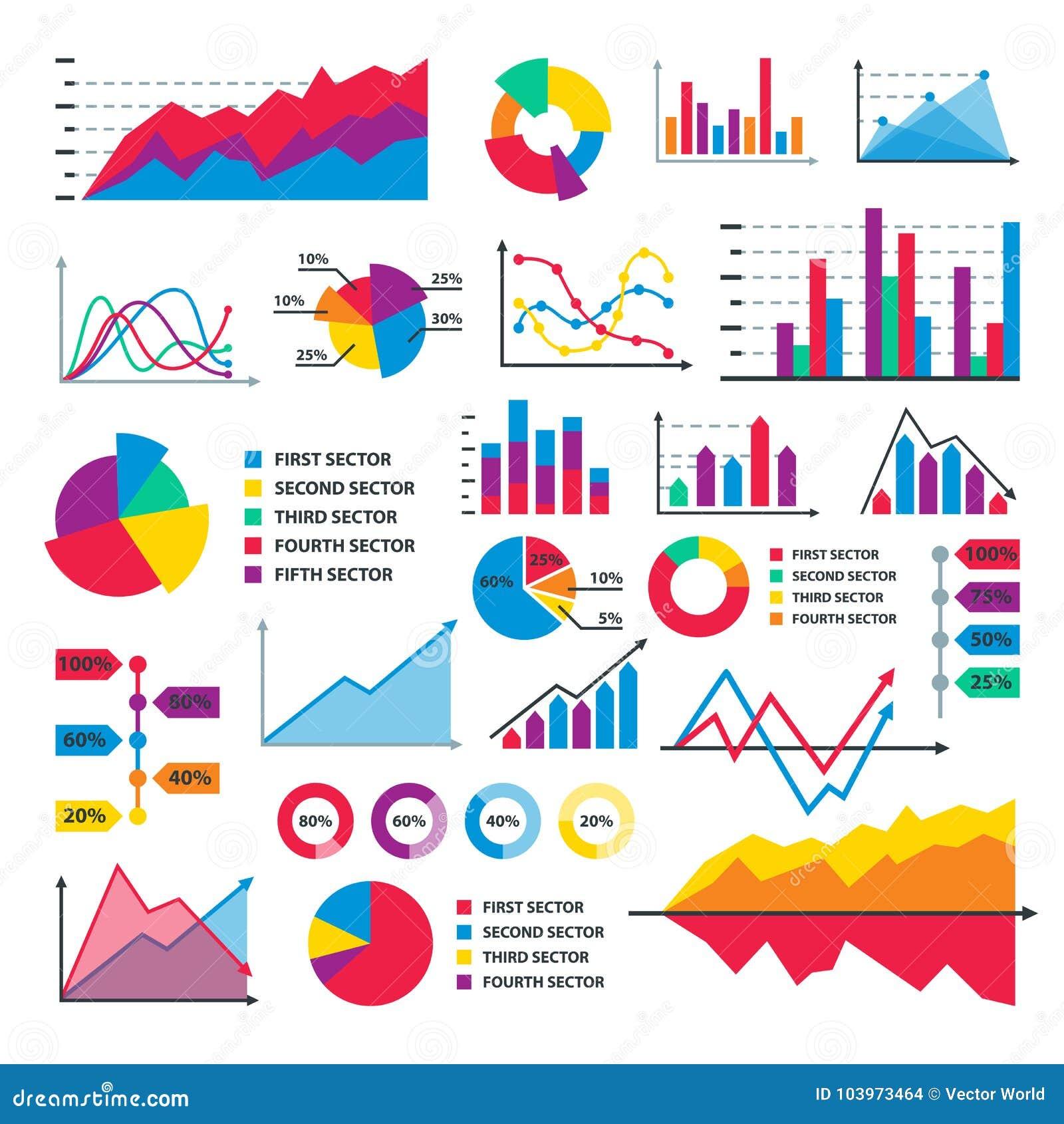 Diagram mapy wykresu elementów spływowego prześcieradła diagrama dane wektorowy biznesowy infographic szablon