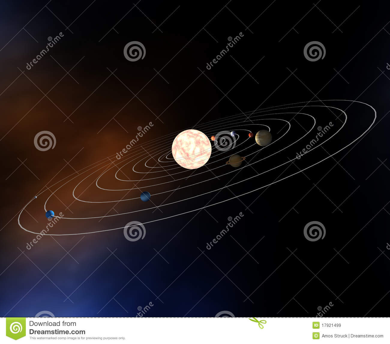 Diagram Of Our Solar System With Planets Stock ...