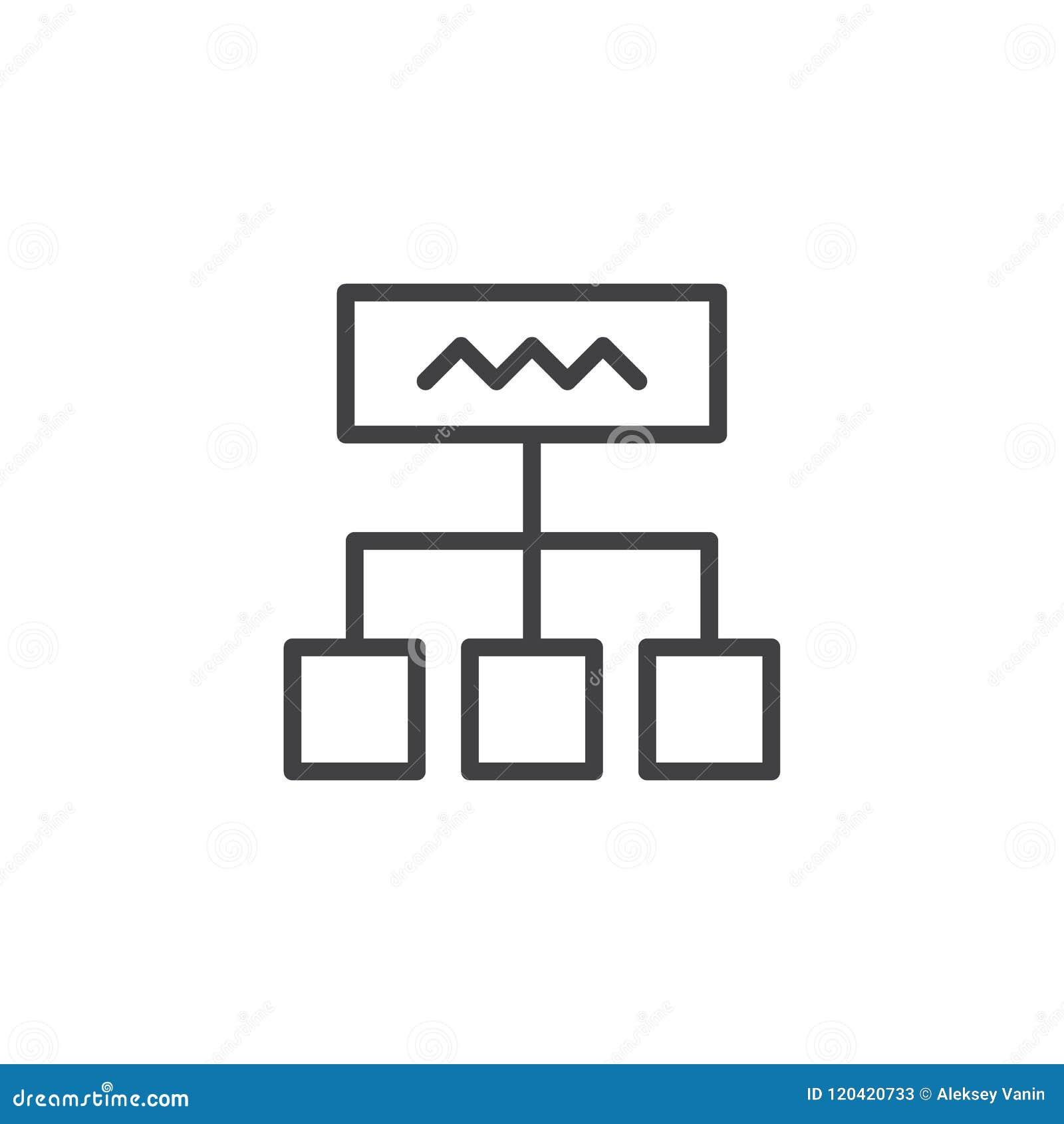Diagram outline icon