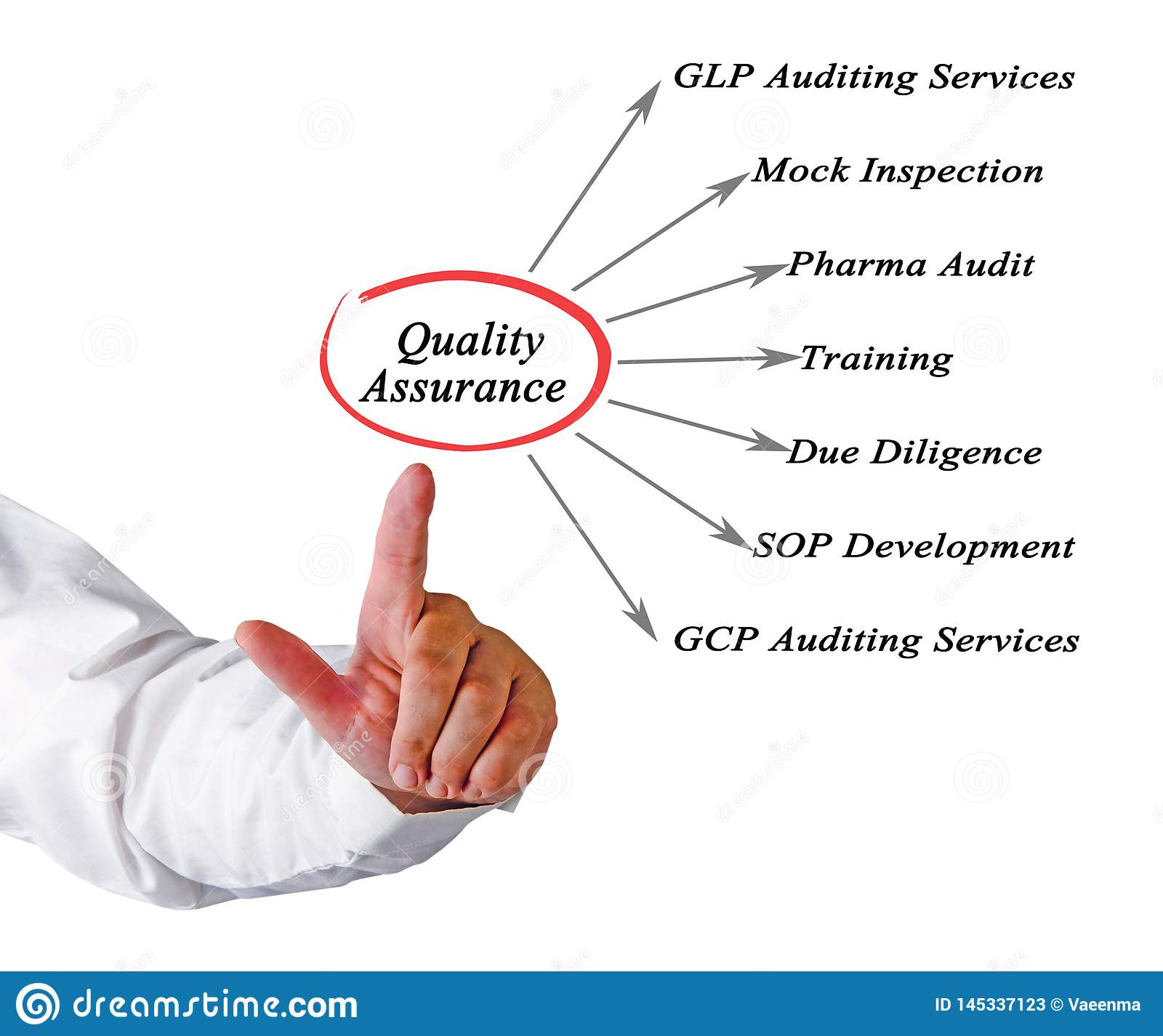 Diagram Of Quality Assurance Stock Image