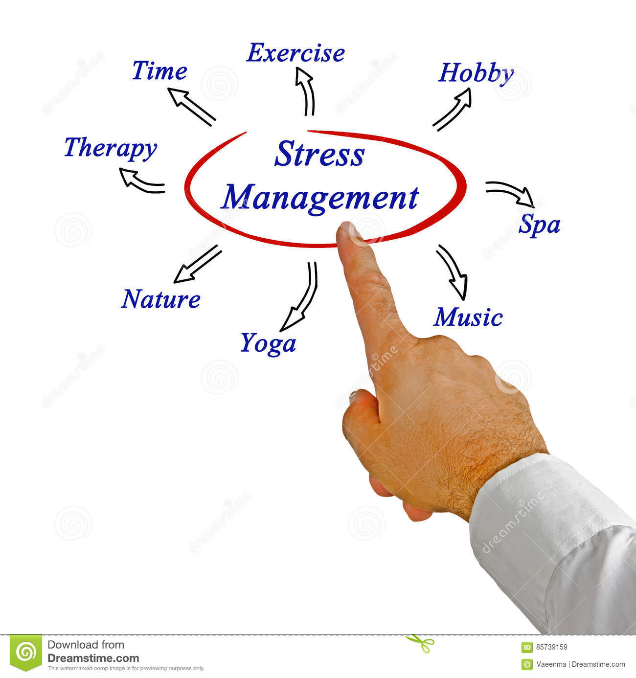 Diagram Of Stress Management Stock Image - Image of ...