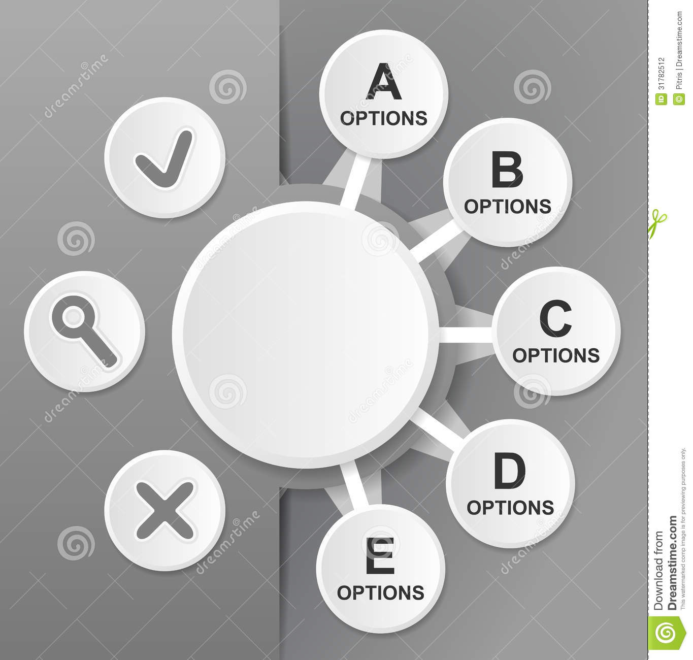 Diagram Template stock vector. Illustration of background ...