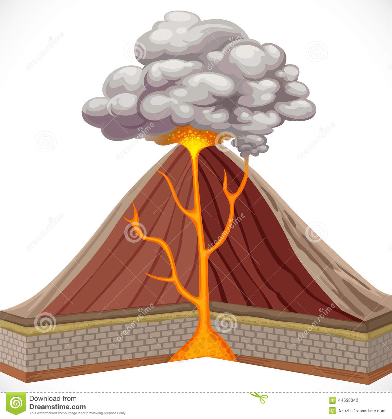 Diagram of volcano stock vector illustration of illustration 44638342 diagram of volcano ccuart Image collections