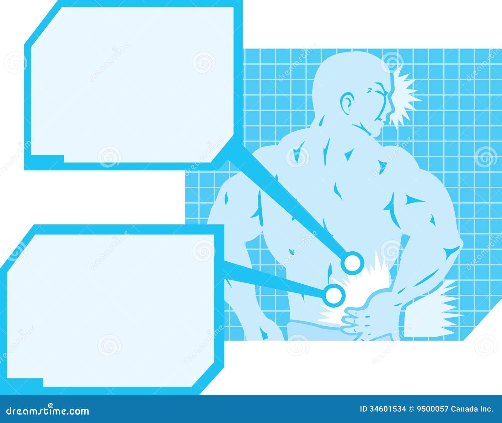 Diagrama Del Dolor De Espalda Ilustración del Vector - Ilustración ...