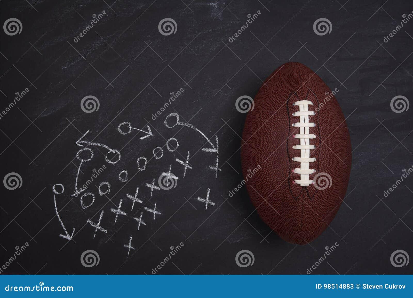 Diagrama del fútbol americano y del juego