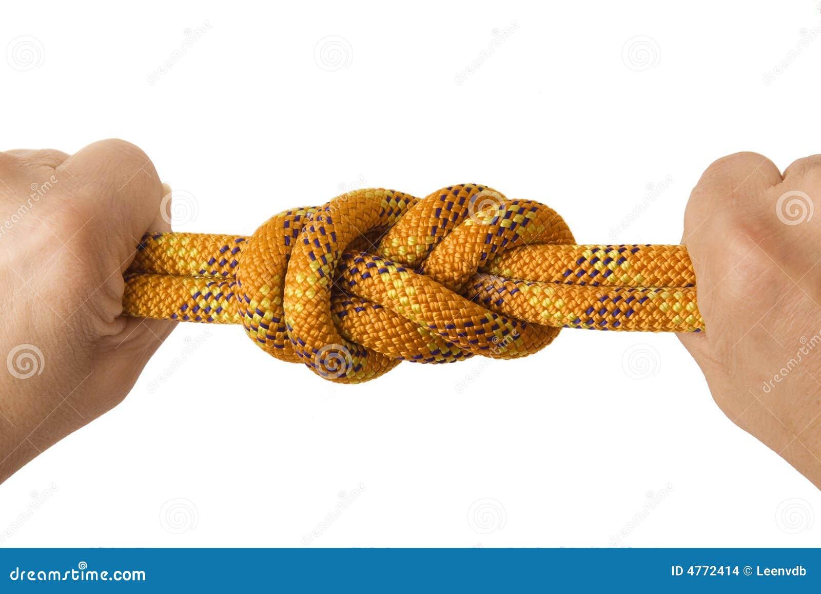 Diagramet nävar för double åtta knyter rep två