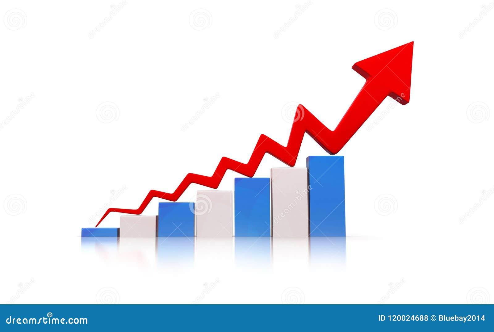 Diagramm der ökonomischen Rezession