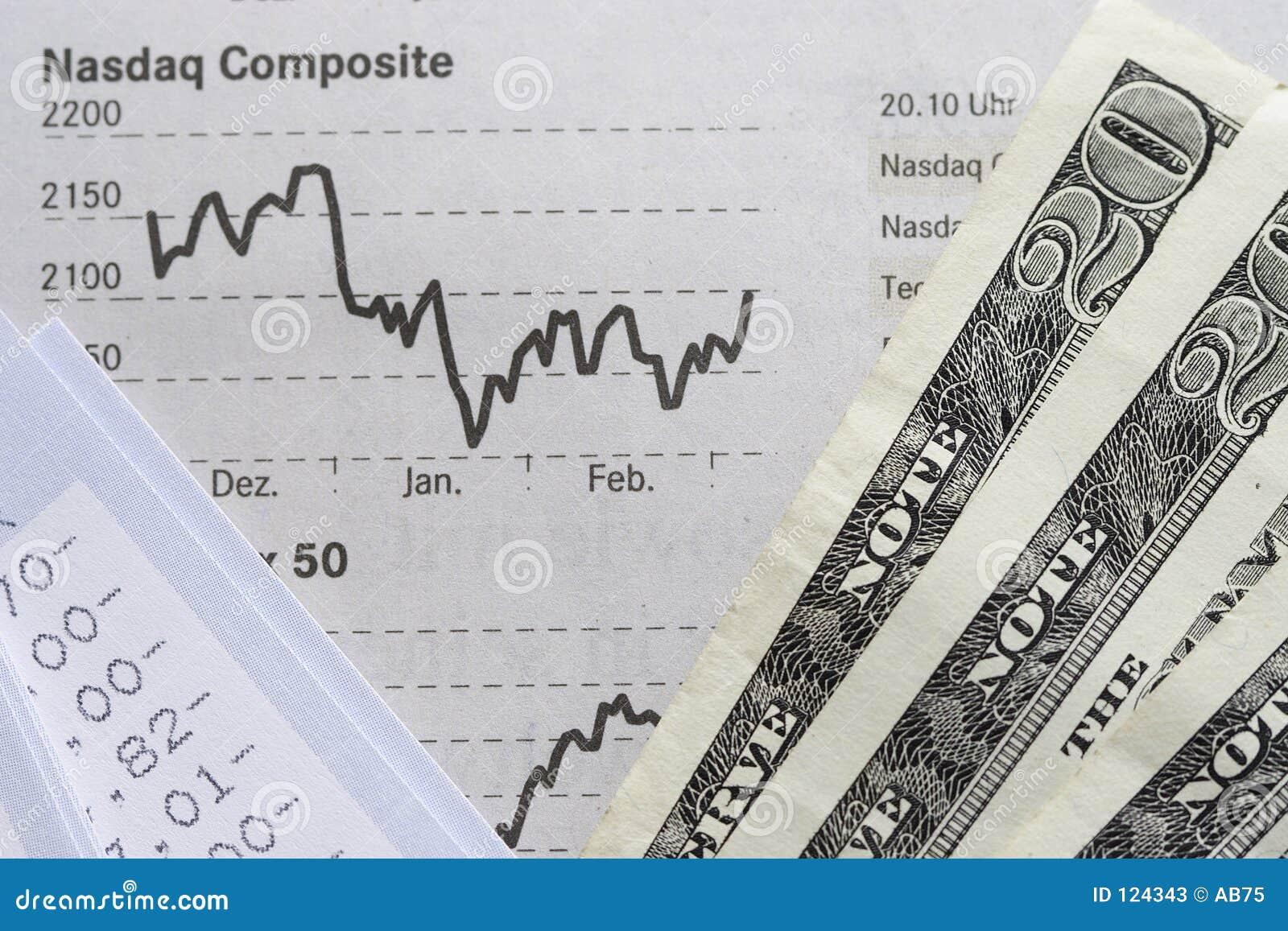 Diagramm-, Kontojahresabschluß und Dollar