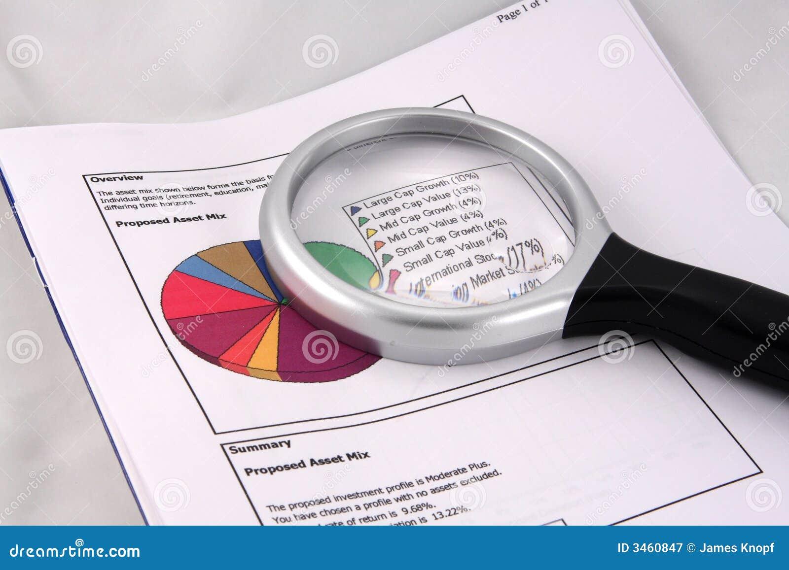Diagramme circulaire de mélange de bien
