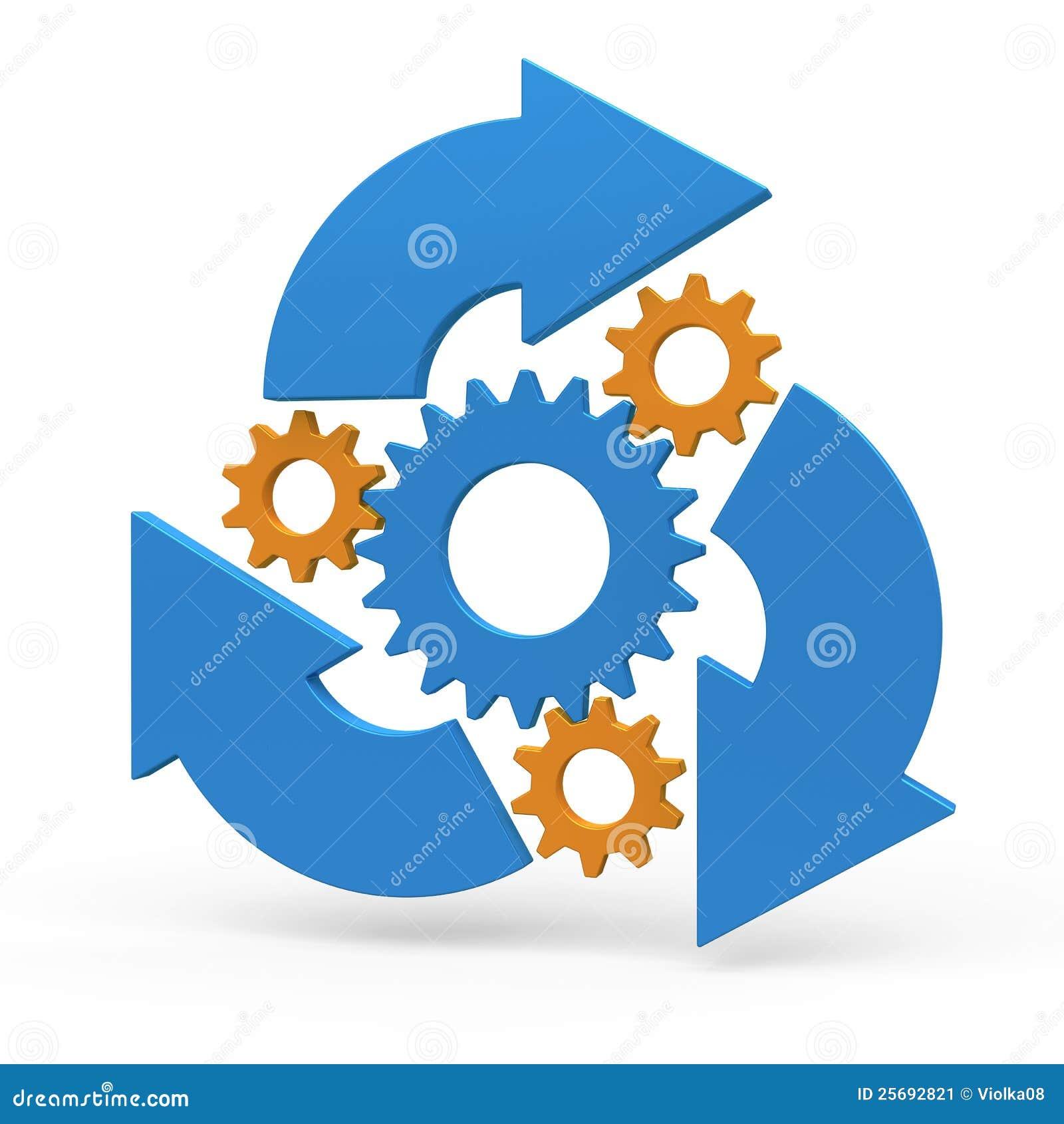 United Process Service Diagramme De Processus D Affaires Image Stock Image