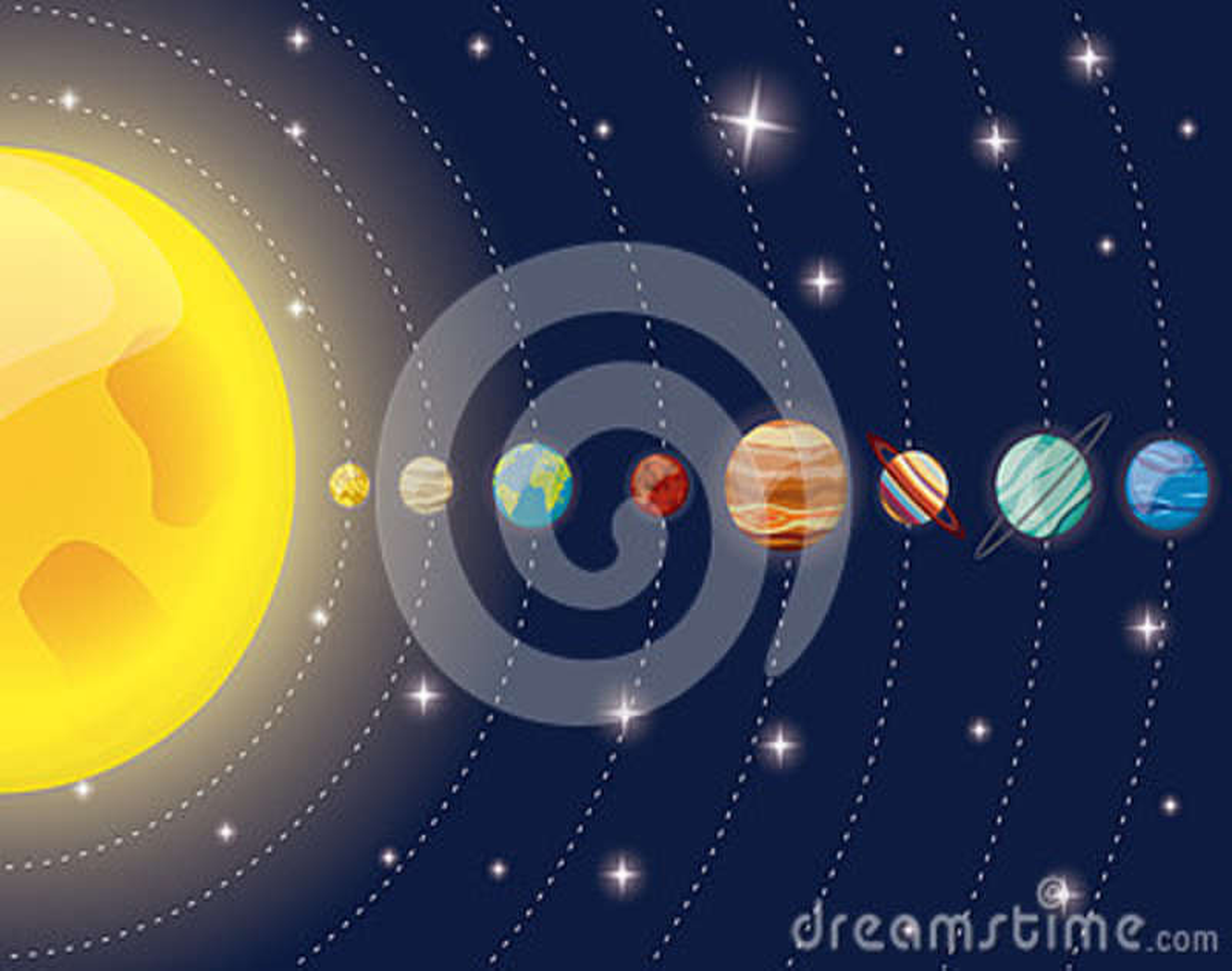 Diagramme Du Soleil De Plan U00e8tes De Syst U00e8me Solaire