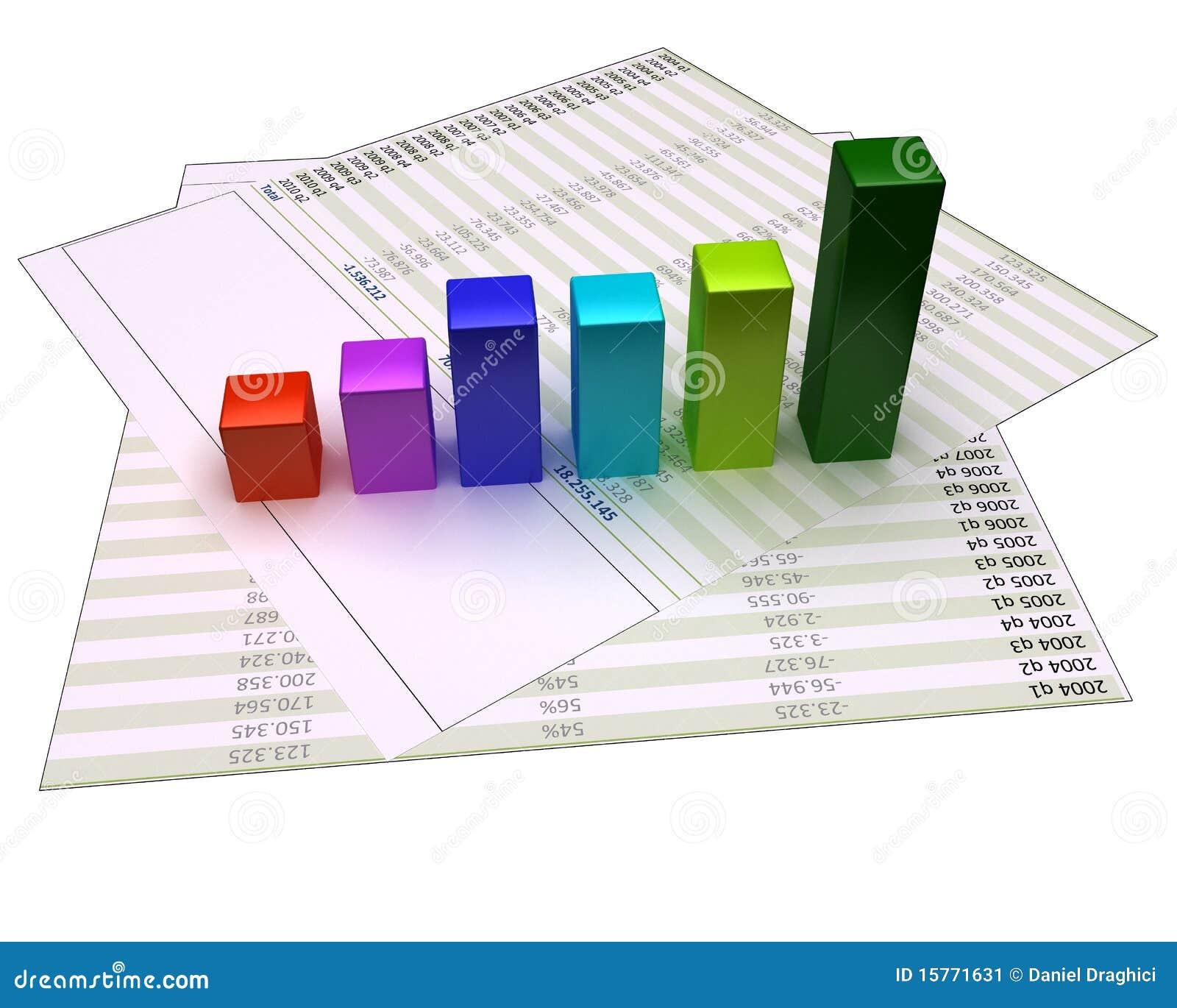Diagramme sur les fichiers financiers et d isolement sur le blanc