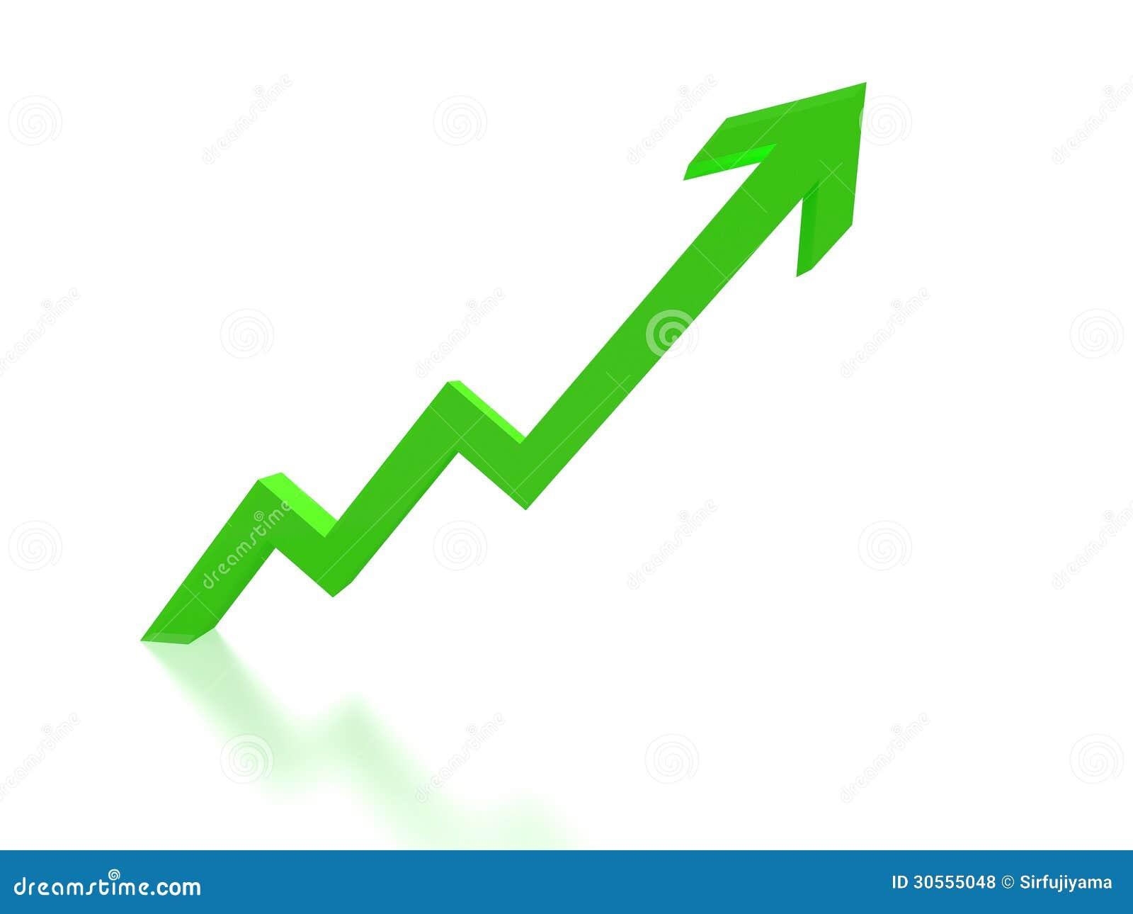 diagramme vert de fl che de croissance photos libres de