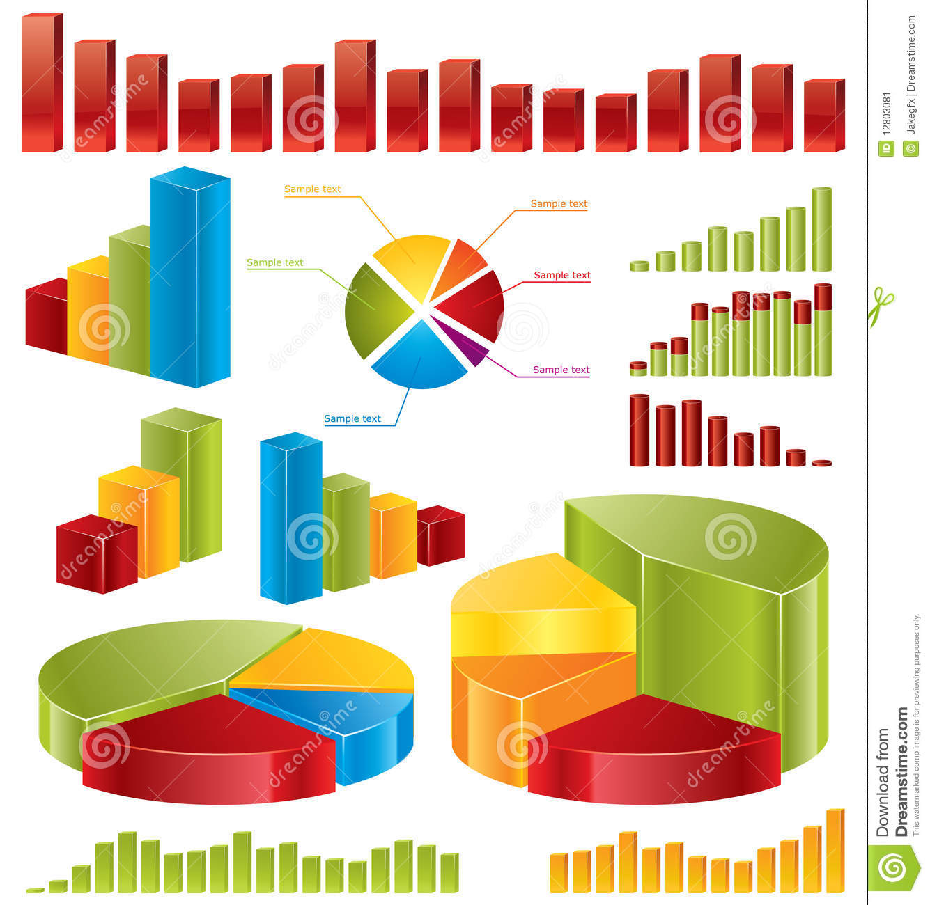 Diagrams  Statistics Stock Image