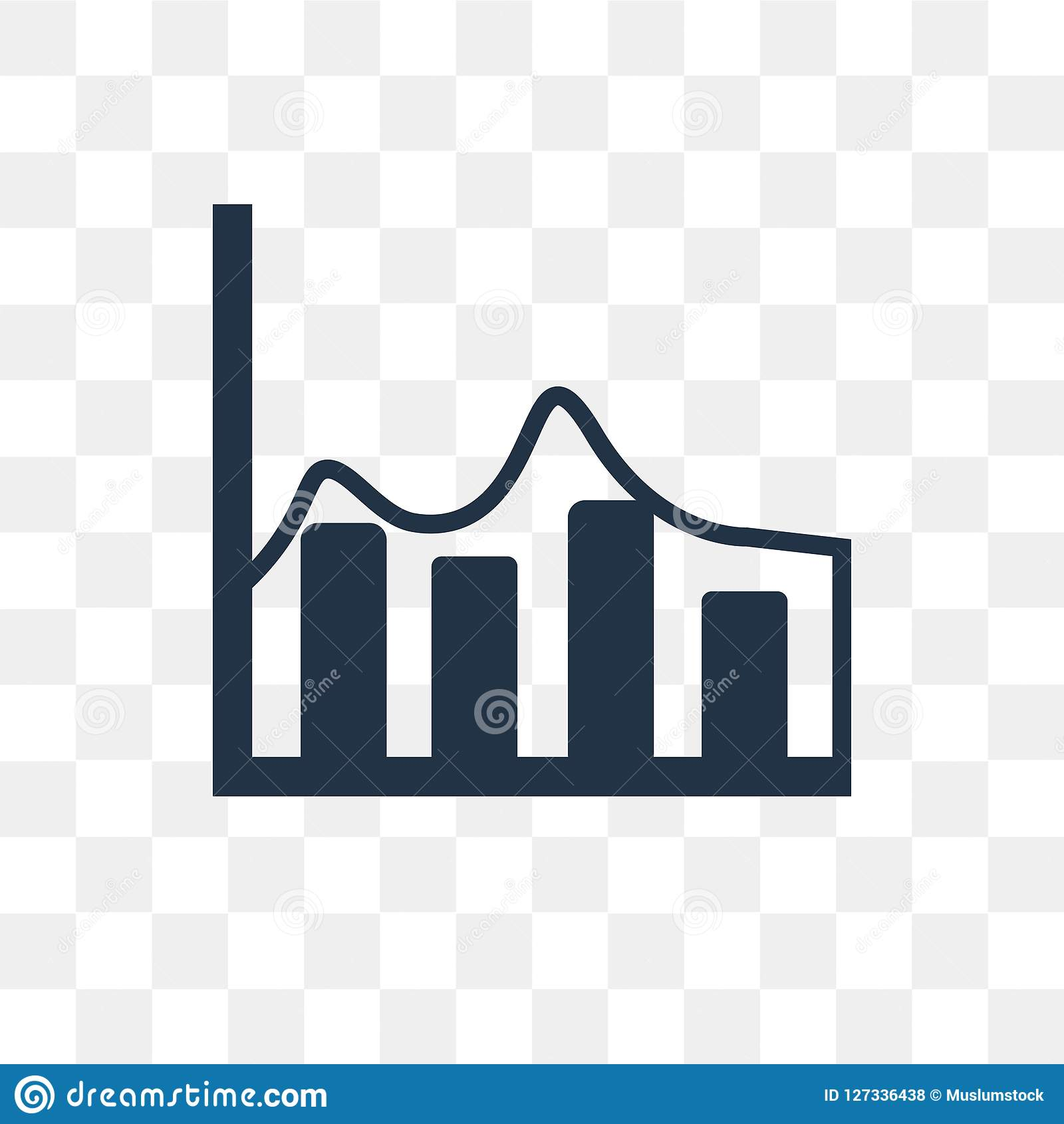 Diagrams Vector Icon Isolated On Transparent Background
