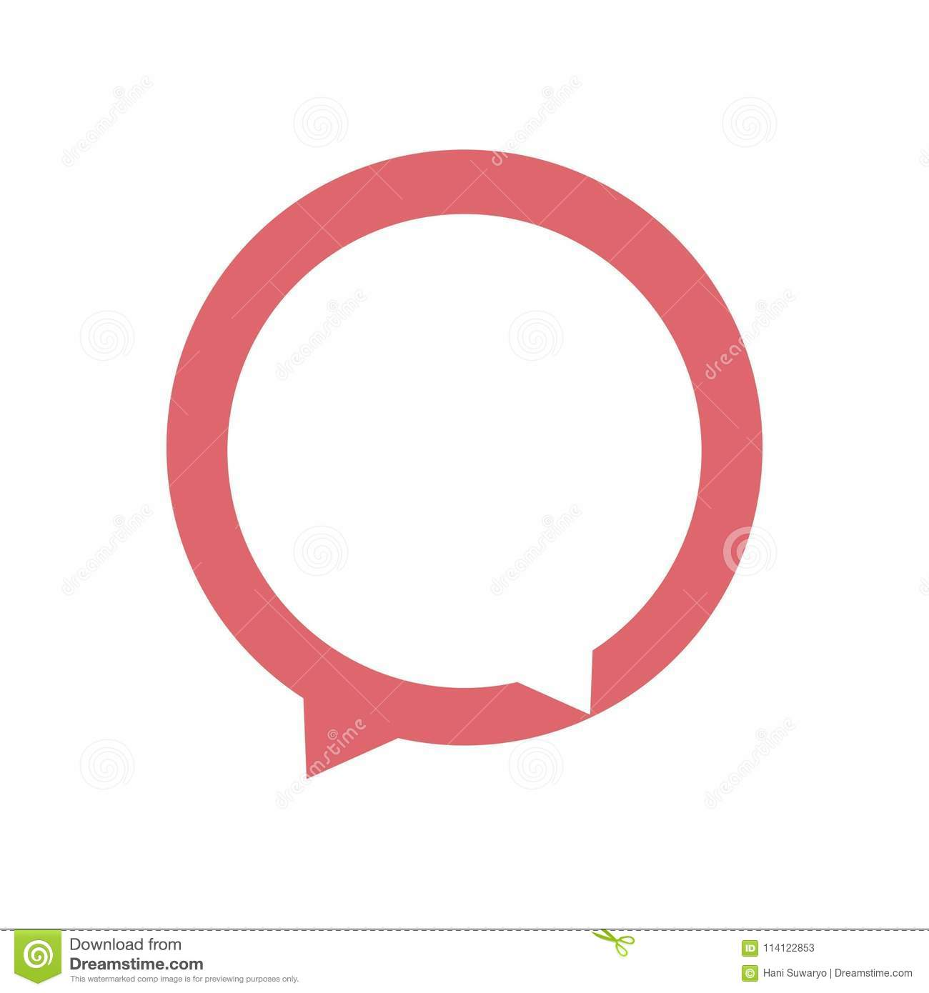 Dialogue icon. Chat vector logo concept illustration in flat style