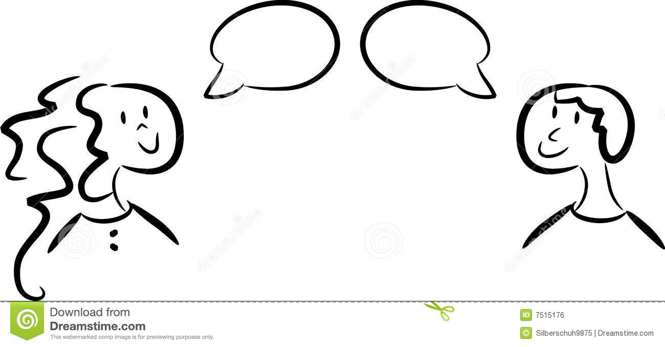 dialogue between woman and man stock vector illustration