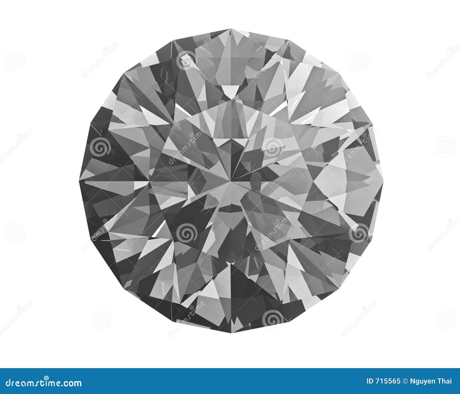 Diamant auf Weiß