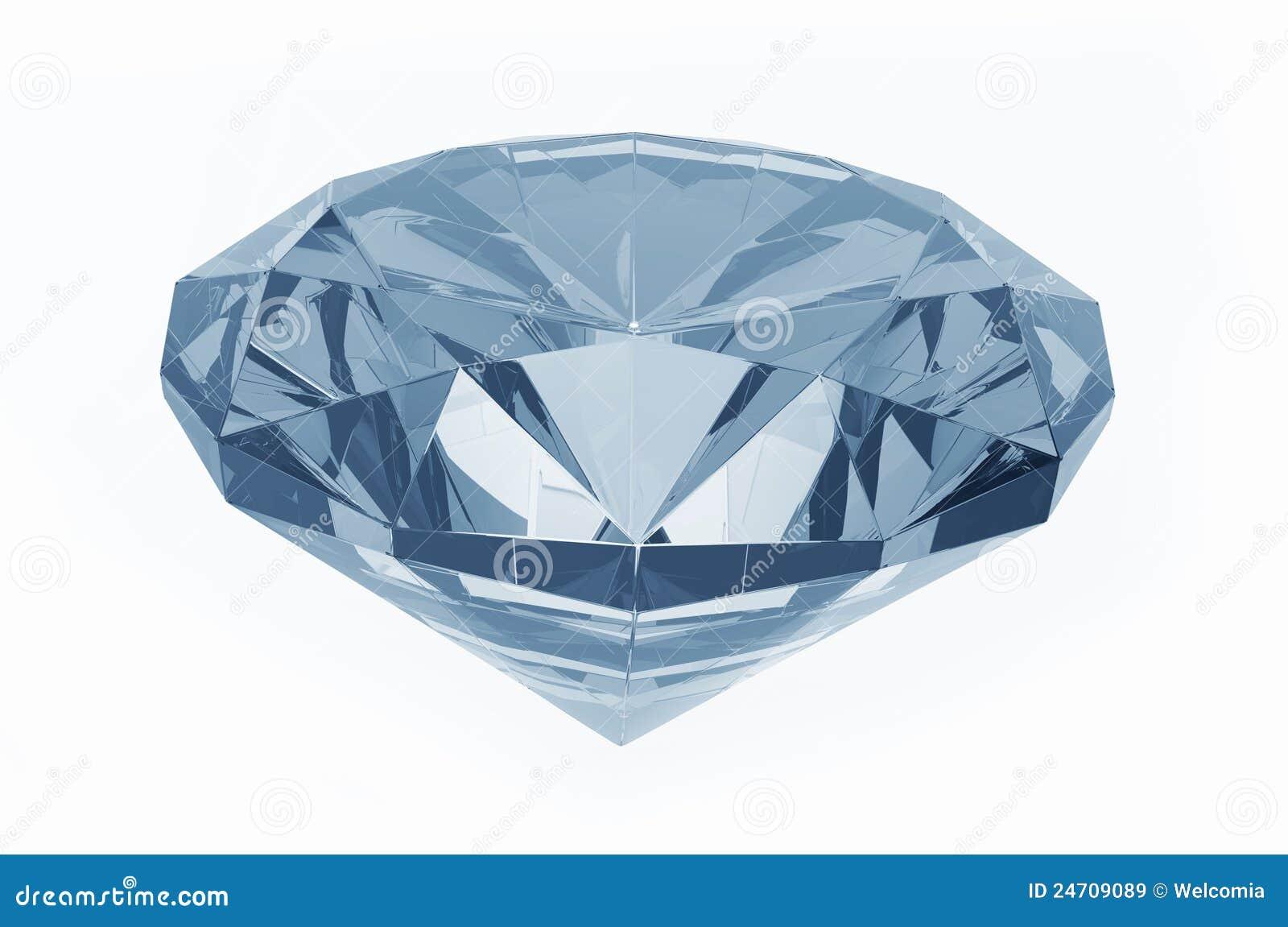 Diamant bleu images libres de droits image 24709089 - Diamant dessin ...