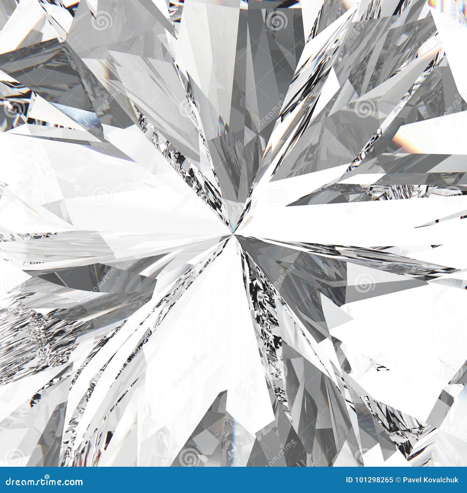 Diamant cher de bijoux de macro pierre gemme de bourdonnement de l illustration 3D