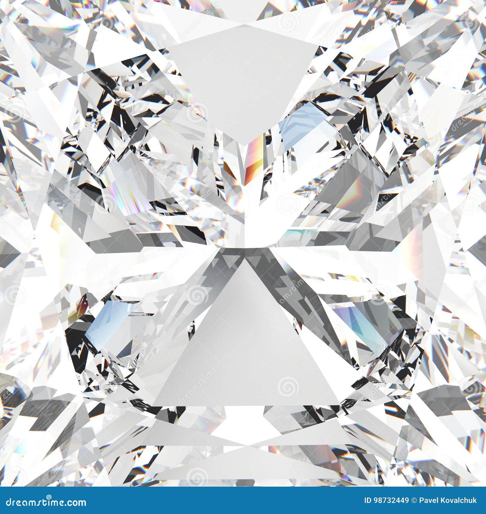 Diamant cher de macro pierre gemme blanche de bourdonnement de l illustration 3D