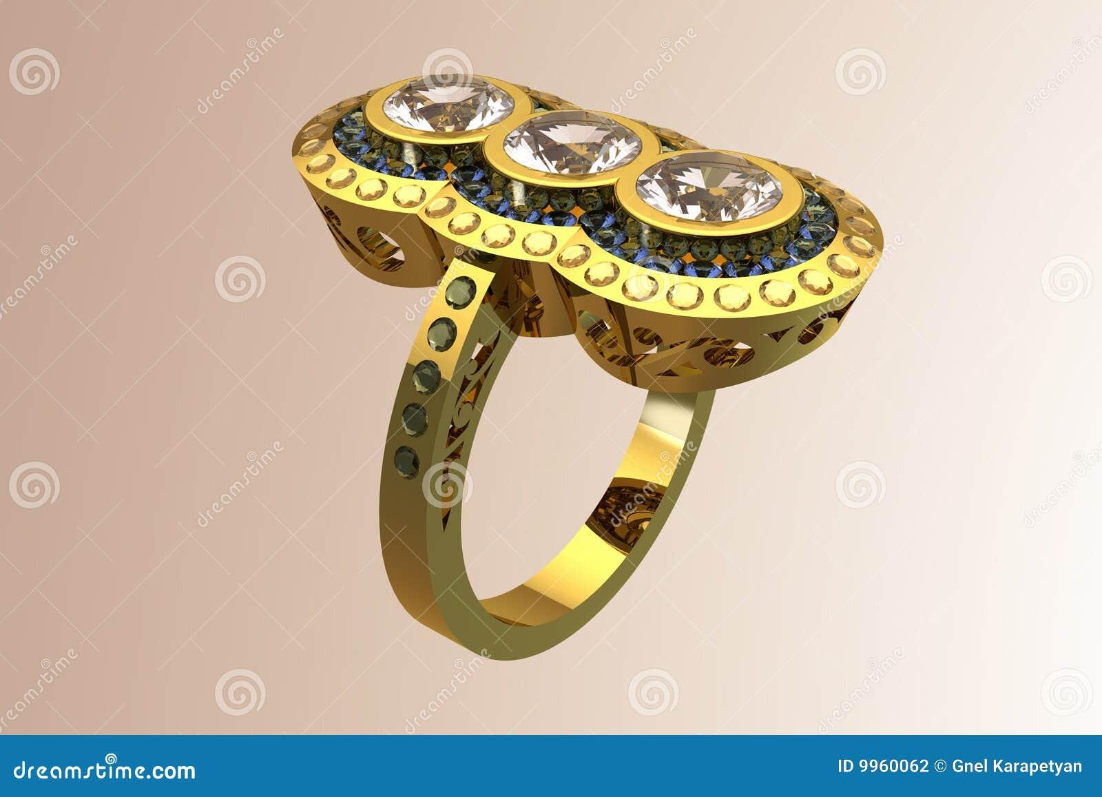 Diamant de créateur/boucle de mariage exclusifs or de Topaz