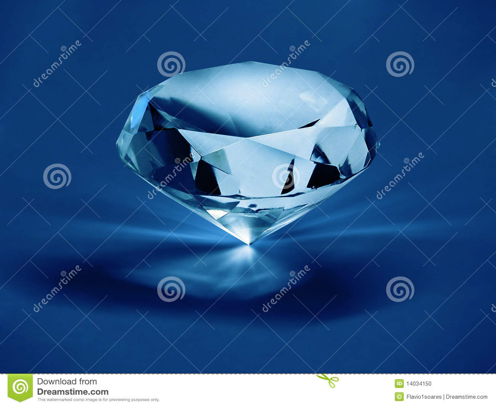 Diamant op blauwe f1s
