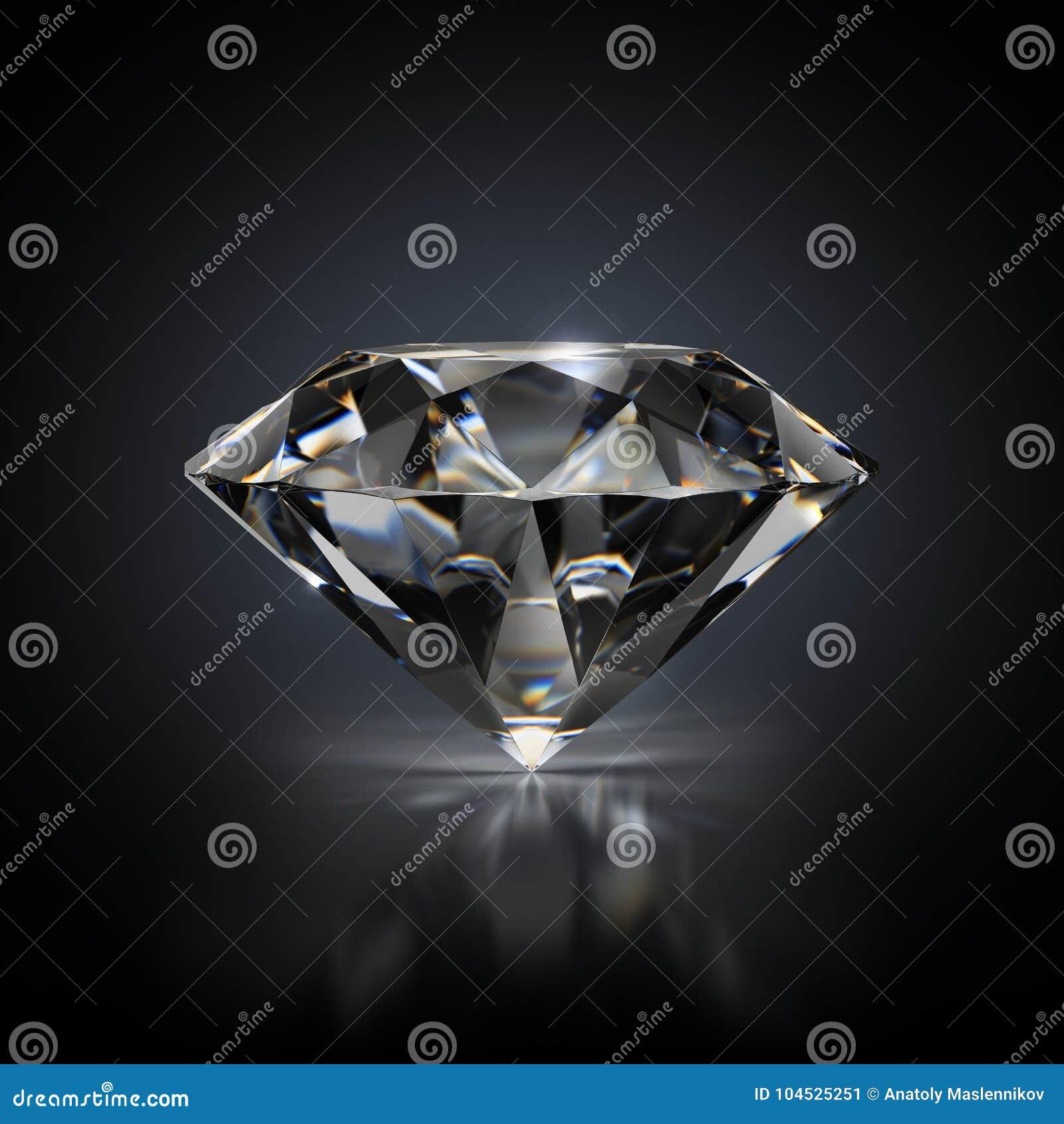 Diamant på en svart bakgrund