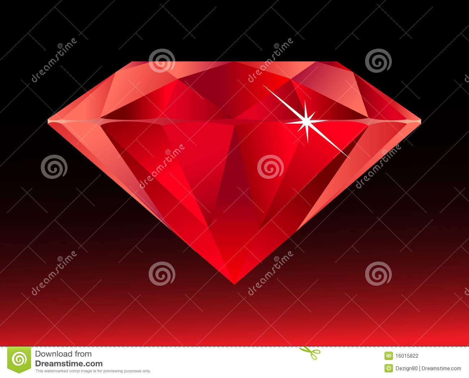 diamant rouge photographie stock image 16015822. Black Bedroom Furniture Sets. Home Design Ideas