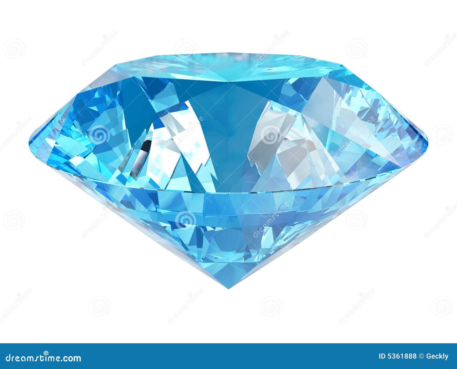 Diamante Azul Fotos De Archivo Libres De Regalías