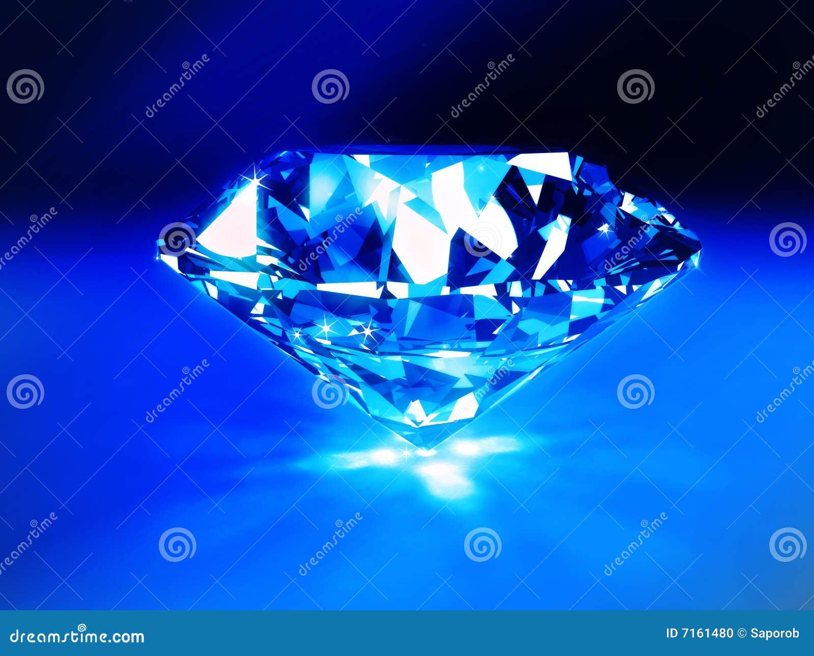 Diamante Azul Foto De Archivo
